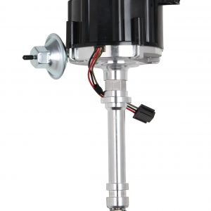 GM HEI Chevrolet V8 Black Cap HEI Vac Distributor- W/Coil