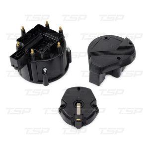 6-Cylinder HEI Super Cap & Rotor Kit - Black