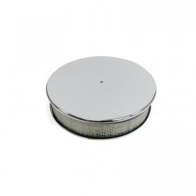 14″ Chrome Aluminum Round Air Cleaner Kit with Hi-Lip Base