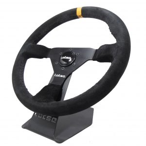 Steering Wheel LOTSE GT330, Black steel and Black leather, 330mm diam, 330-PA, each